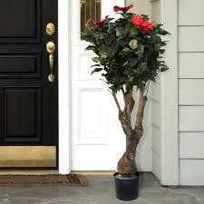 garden artificial hibiscus tree in pot reviews wayfair