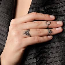 black finger rings images Maria black oxidized silver cascade ring anthem wares jpg
