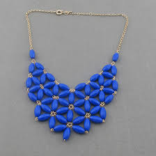 handmade statement necklace images Handmade blue fan bubble necklace bib statement necklace holiday