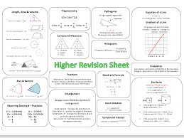 gcse maths revision worksheets higher u0026 aqa gcse higher maths