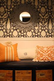 my sweet savannah october 2014 i tried orange with my ballard designs monogram lumbar pillow
