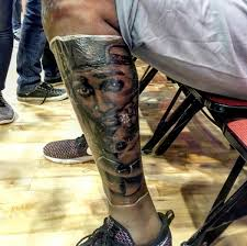kevin durant got a massive tupac tattoo on his leg complex