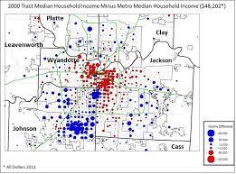 kansas city metro map a closer look at kansas city s income change kceconomy