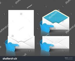 vector post envelope letter set 3d stock vector 118539148