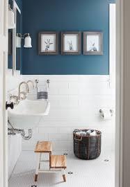 Blue Tile Bathroom Ideas hexagon blue floor tile with white subway tile modern fresh