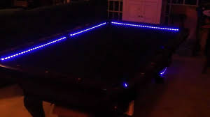 led pool table light rgb led bar pool table lights color changing and beats to t youtube