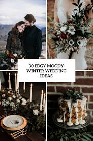 picture of edgy moody winter wedding ideas cover