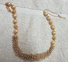 small necklace designs images Small basara pearls and south pearls set pearls indian jewelry jpg