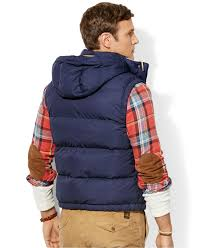 Big And Tall For Mens Clothes Polo Ralph Lauren Big And Tall Elmwood Down Puffer Vest In Blue