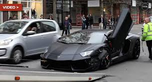 lamborghini aventador on the road sounds of lamborghini aventador scraping the road will you cringe
