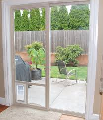 Patio Door With Pet Door Built In Door Patio Doors With Door Built In Glass By