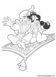 aladdin showing jasmine disney princess coloring