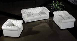 ultra modern 3pc living room set leather paris white leather ultra modern 3pc living room set paris 3 white