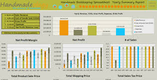 Spreadsheet For Handmade Bookkeeping Spreadsheet 2 0 Number One Selling