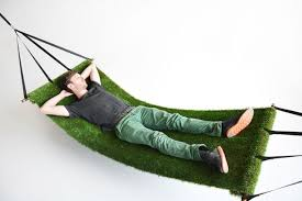 field hammock a hammock covered in synthetic grass that combines