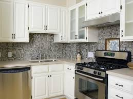 Backsplash With White Kitchen Cabinets Kitchen Popular Kitchen Backsplash Ideas With Mosaic Small Tile