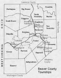 map of counties in pa beaver county pennsylvania