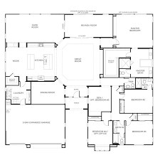 6 Bedroom House Plans Luxury Neoteric Single Story House Plans With Media Room 10 6 Bedroom One