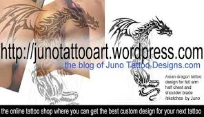 asian dragon tattoo for full arm chest and shoulder blade by juno