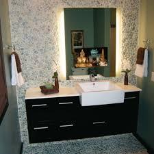 mirror tv film in bathroom built with from framed bathroom vanity