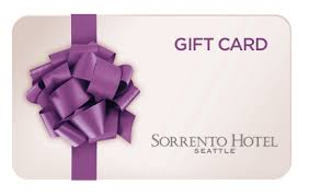 hotel gift card simple coloured gift card with purple bow for sorrento hotel