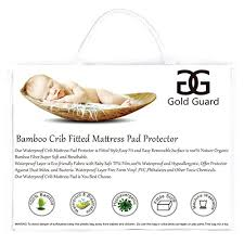 Bamboo Crib Mattress Gold Guard Soft Bamboo Fitted Baby Crib Mattress Pad