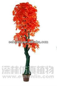 wholesale cheap artificial maple silk trees and plants sale