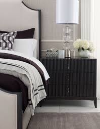 symphony platinum black tie 3 drawers bedside chest from legacy 847549