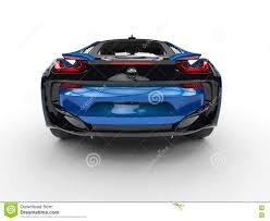 futuristic sports cars dark blue futuristic sports car back view stock illustration