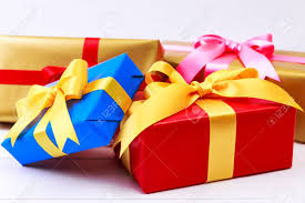gift wrapped boxes gift boxes with bow colored presents wrapped with paper and