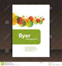 flyer or cover design circles pattern background stock vector
