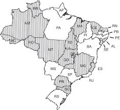 Brazil Map States by Illegal Hunting And Fishing In Brazil A Study Based On Data