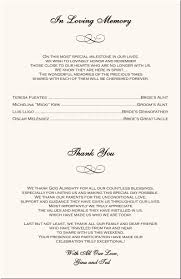 wedding program exles wording wedding budgets exles wedding ideas 2018