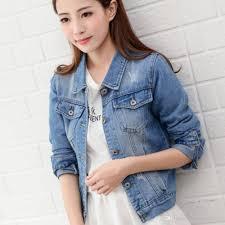 light blue cropped jean jacket cropped jean jacket light blue short denim jakcets jaqueta casual
