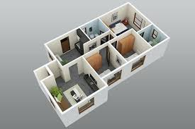 Three Bedroom House Design Pictures 3d 3 Bedroom House Plans Three Bedroom 3 Bedroom 2 Bath Sq Ft 3