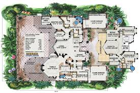 spanish house plans mediterranean style greatroom courtyard