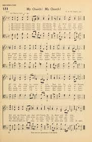 hymns and songs for the sunday school 151 my church my church