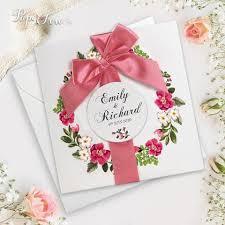 wedding ribbon invitations paper cards