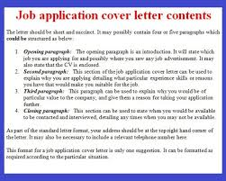 tips for a cover letter for a job application