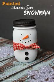 i dig pinterest painted mason jar snowman craft gift more craft