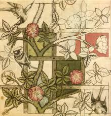 file william morris design for trellis wallpaper 1862 jpg