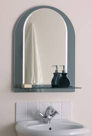 bathroom modern porcelain sink wooden bathroom mirror ideas