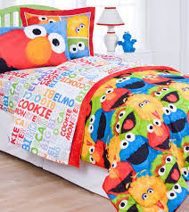 sesame street comic bedroom collection twin bed sheets big bird
