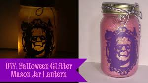 Mason Jar Halloween Diy Halloween Glitter Mason Jar Lantern Youtube