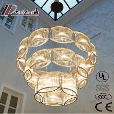 Crystal Bar Chandelier Large Luxury Hotel Project Led Bar Crystal Chandeliers For Villa