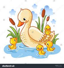 vector illustration duck ducklings mother duck stock vector