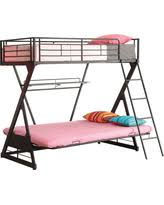Black Futon Bunk Bed Sale Zazie Futon Bunk Bed With Shelf Black