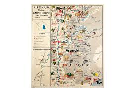 Provence Map Burgundy And Provence Wine U0026 Food Map Omero Home