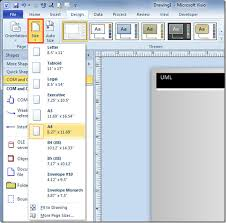 how to create a template in visio 2010