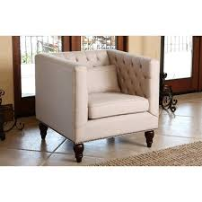 Tufted Accent Chair Abbyson Living Montclair Linen Tufted Accent Chair In Beige Br